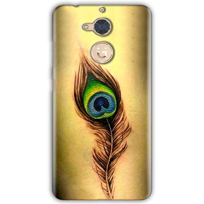 Gionee S6 Pro Mobile Covers Cases Peacock coloured art - Lowest Price - Paybydaddy.com