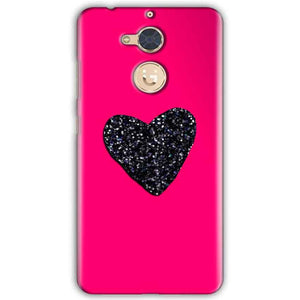 Gionee S6 Pro Mobile Covers Cases Pink Glitter Heart - Lowest Price - Paybydaddy.com