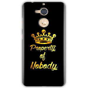 Gionee S6 Pro Mobile Covers Cases Property of nobody with Crown - Lowest Price - Paybydaddy.com