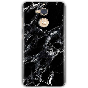 Gionee S6 Pro Mobile Covers Cases Pure Black Marble Texture - Lowest Price - Paybydaddy.com