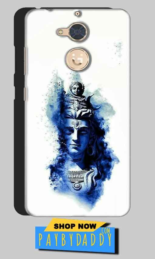 Gionee S6 Pro Mobile Covers Cases Shiva Blue White - Lowest Price - Paybydaddy.com