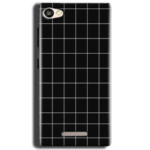 Gionee S Plus Mobile Covers Cases Black with White Checks - Lowest Price - Paybydaddy.com