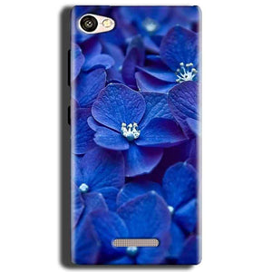 Gionee S Plus Mobile Covers Cases Blue flower - Lowest Price - Paybydaddy.com