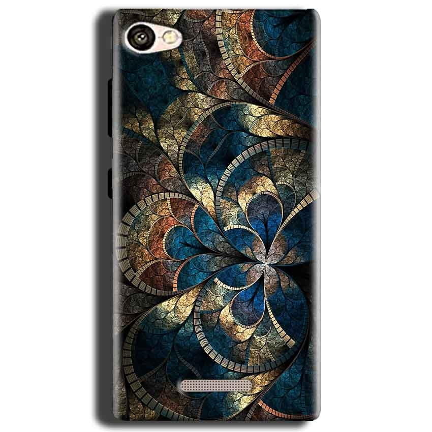 Gionee S Plus Mobile Covers Cases Gold Colorful Texture Pattern - Lowest Price - Paybydaddy.com