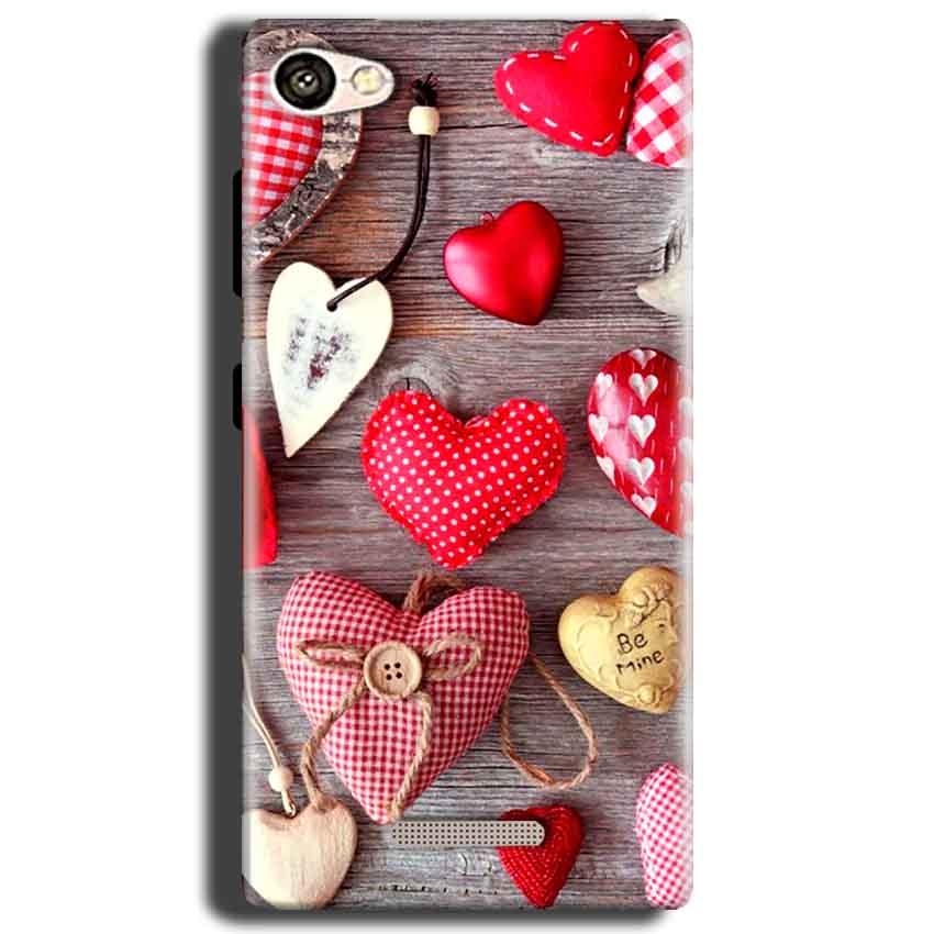 Gionee S Plus Mobile Covers Cases Hearts- Lowest Price - Paybydaddy.com