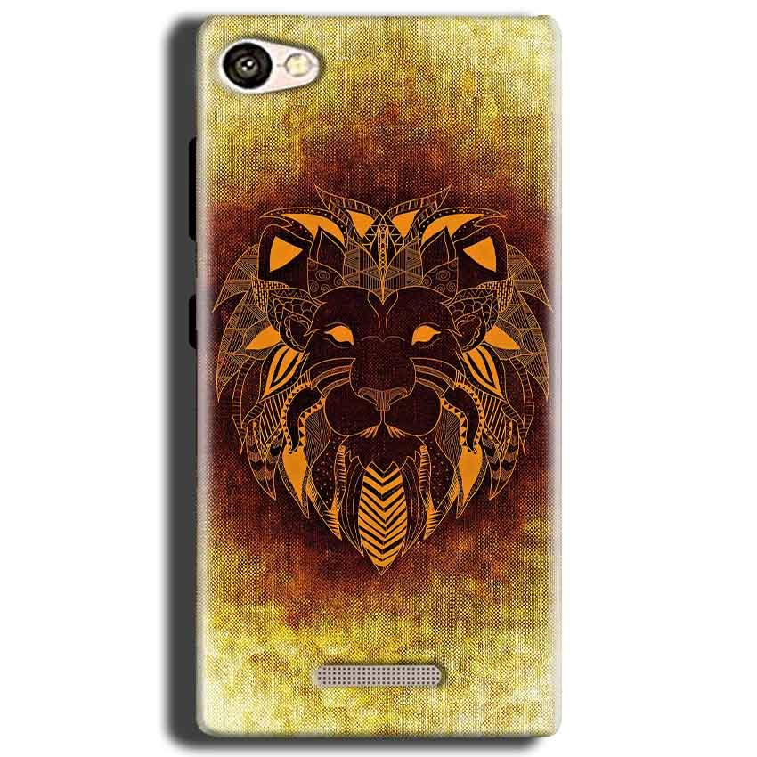 Gionee S Plus Mobile Covers Cases Lion face art - Lowest Price - Paybydaddy.com