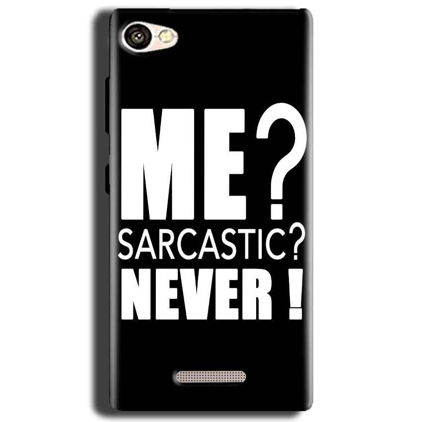 Gionee S Plus Mobile Covers Cases Me sarcastic - Lowest Price - Paybydaddy.com