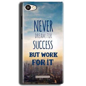 Gionee S Plus Mobile Covers Cases Never Dreams For Success But Work For It Quote - Lowest Price - Paybydaddy.com