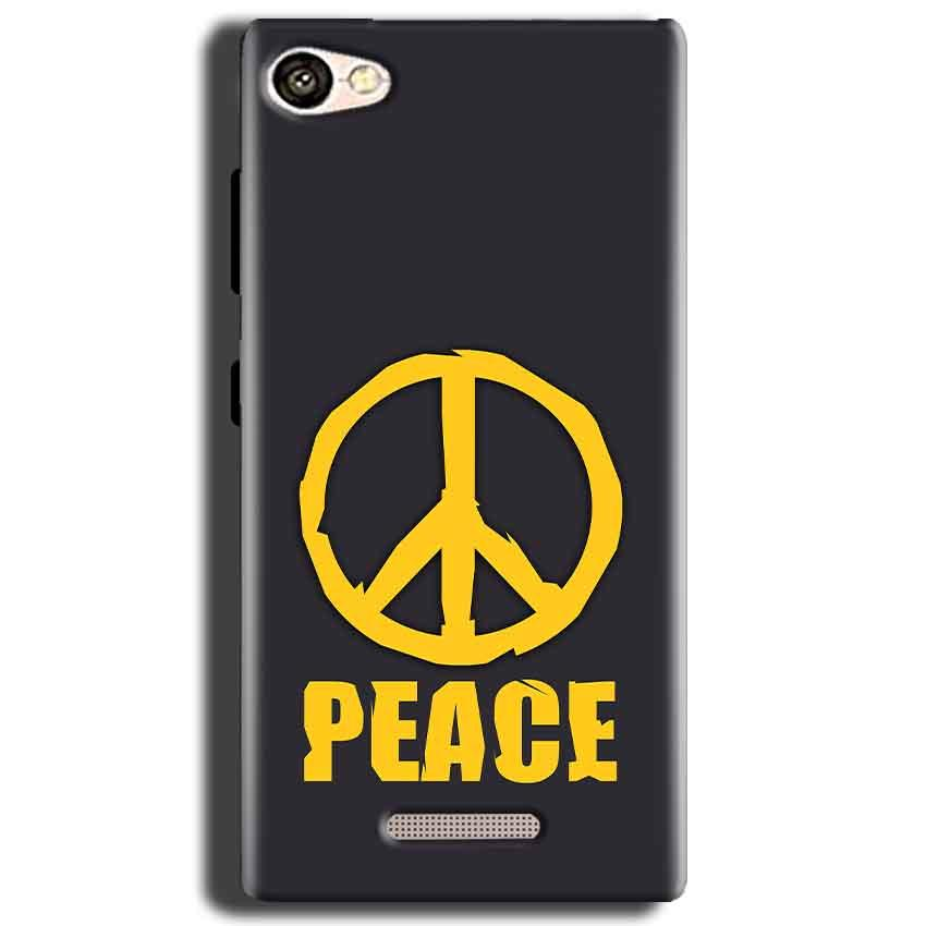 Gionee S Plus Mobile Covers Cases Peace Blue Yellow - Lowest Price - Paybydaddy.com