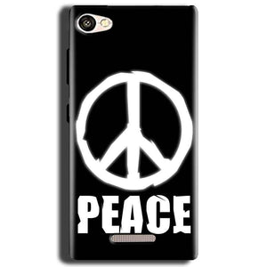 Gionee S Plus Mobile Covers Cases Peace Sign In White - Lowest Price - Paybydaddy.com