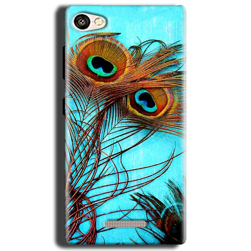 Gionee S Plus Mobile Covers Cases Peacock blue wings - Lowest Price - Paybydaddy.com