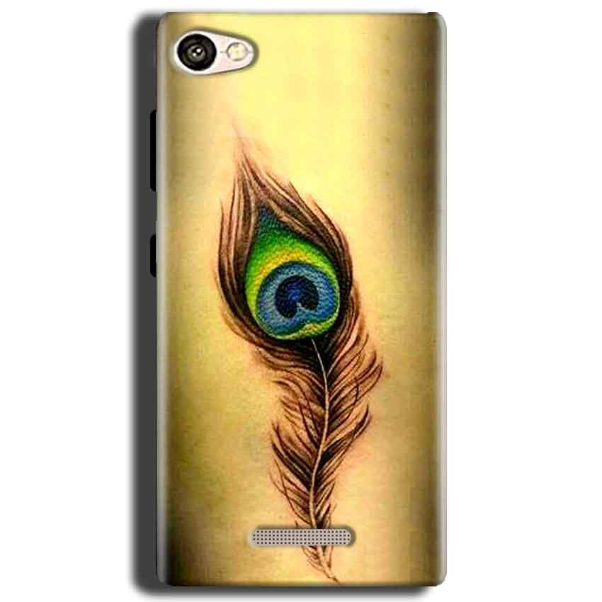 Gionee S Plus Mobile Covers Cases Peacock coloured art - Lowest Price - Paybydaddy.com
