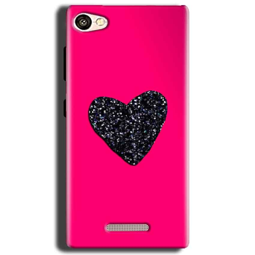 Gionee S Plus Mobile Covers Cases Pink Glitter Heart - Lowest Price - Paybydaddy.com