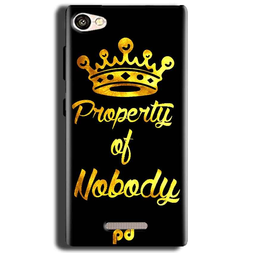 Gionee S Plus Mobile Covers Cases Property of nobody with Crown - Lowest Price - Paybydaddy.com
