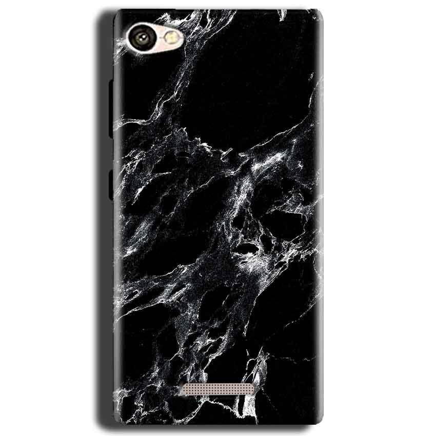 Gionee S Plus Mobile Covers Cases Pure Black Marble Texture - Lowest Price - Paybydaddy.com