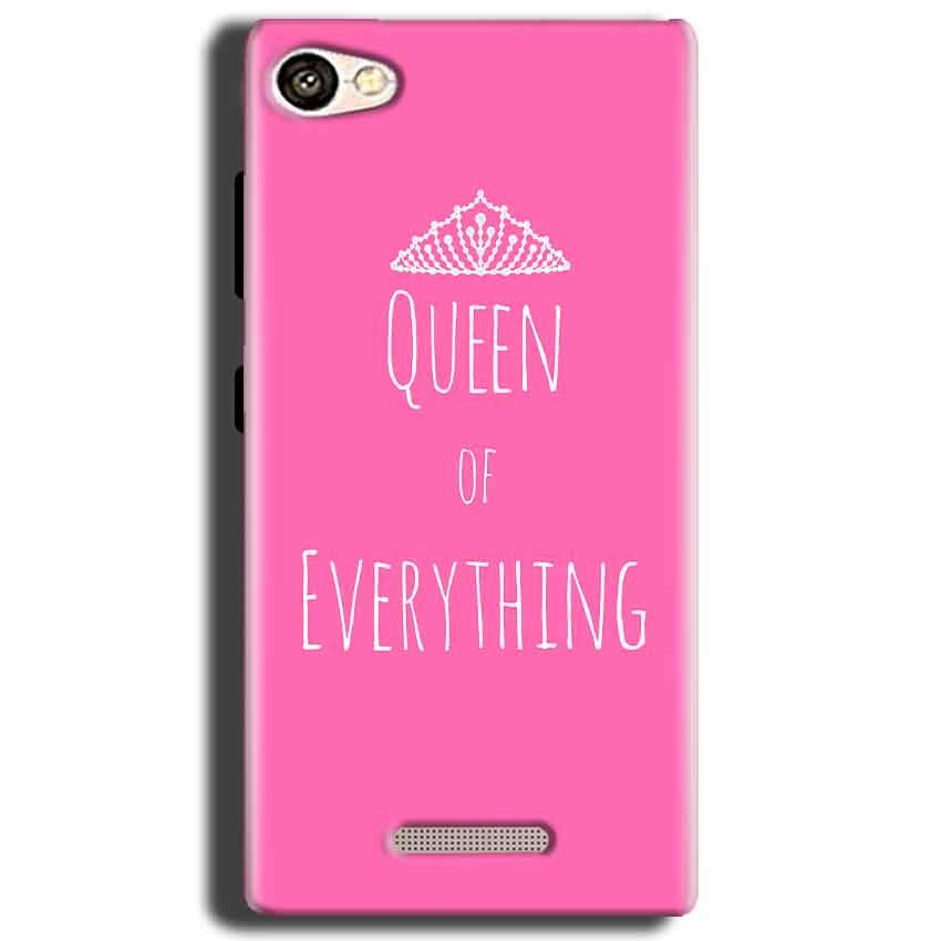 Gionee S Plus Mobile Covers Cases Queen Of Everything Pink White - Lowest Price - Paybydaddy.com