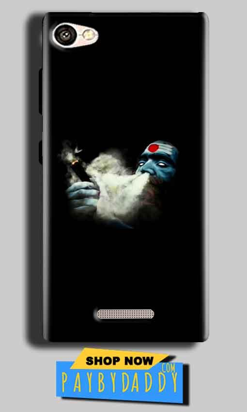 Gionee S Plus Mobile Covers Cases Shiva Aghori Smoking - Lowest Price - Paybydaddy.com