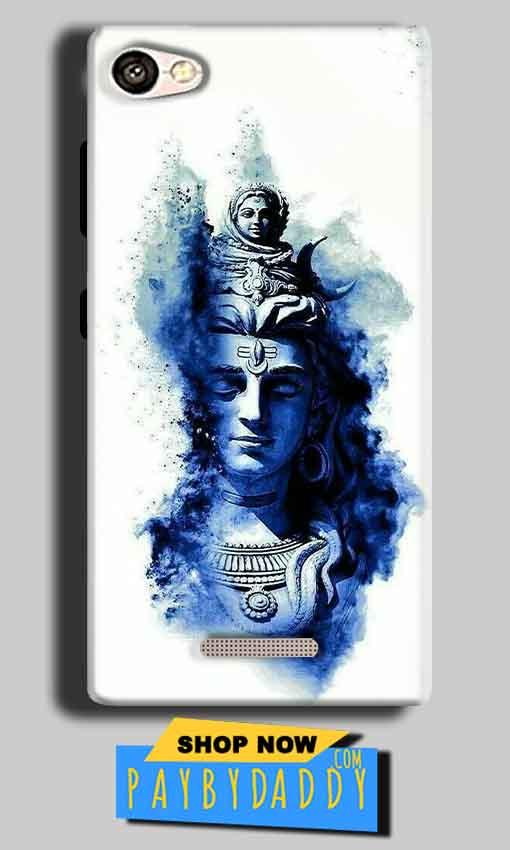 Gionee S Plus Mobile Covers Cases Shiva Blue White - Lowest Price - Paybydaddy.com