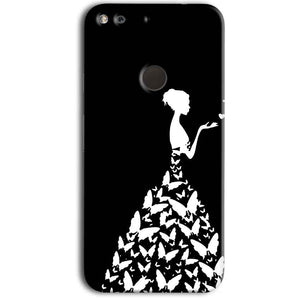 Google Pixel Mobile Covers Cases Butterfly black girl - Lowest Price - Paybydaddy.com