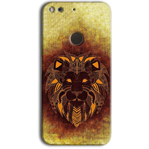 Google Pixel Mobile Covers Cases Lion face art - Lowest Price - Paybydaddy.com