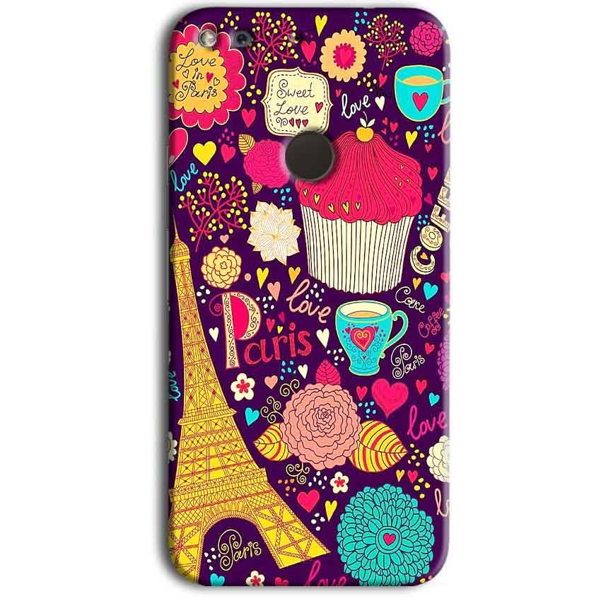 Google Pixel Mobile Covers Cases Paris Sweet love - Lowest Price - Paybydaddy.com
