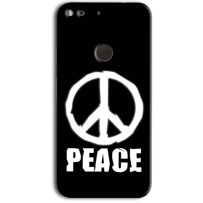 Google Pixel Mobile Covers Cases Peace Sign In White - Lowest Price - Paybydaddy.com