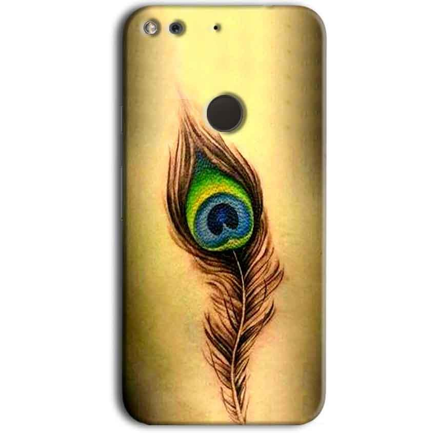 Google Pixel Mobile Covers Cases Peacock coloured art - Lowest Price - Paybydaddy.com