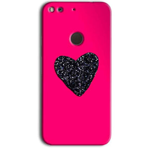 Google Pixel Mobile Covers Cases Pink Glitter Heart - Lowest Price - Paybydaddy.com