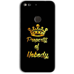 Google Pixel Mobile Covers Cases Property of nobody with Crown - Lowest Price - Paybydaddy.com