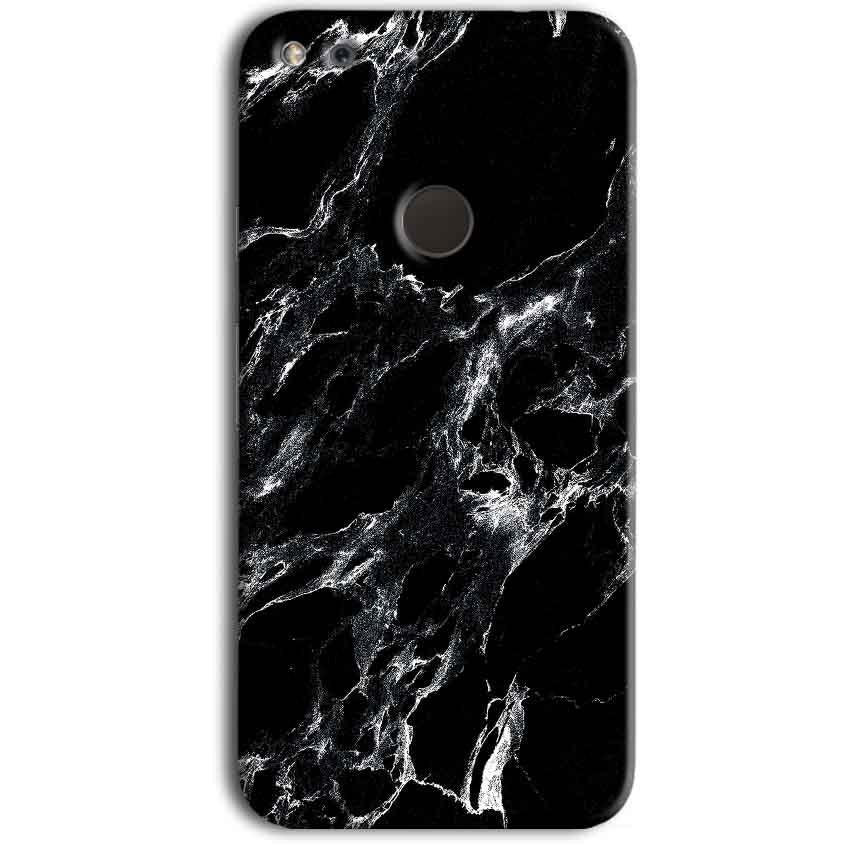 Google Pixel Mobile Covers Cases Pure Black Marble Texture - Lowest Price - Paybydaddy.com