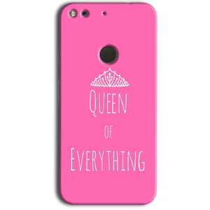 Google Pixel Mobile Covers Cases Queen Of Everything Pink White - Lowest Price - Paybydaddy.com