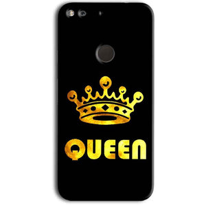 Google Pixel Mobile Covers Cases Queen With Crown in gold - Lowest Price - Paybydaddy.com