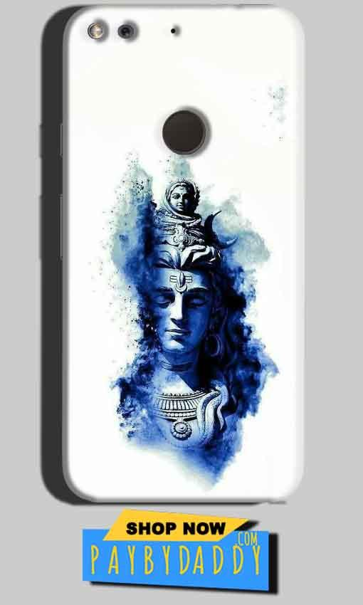 Google Pixel Mobile Covers Cases Shiva Blue White - Lowest Price - Paybydaddy.com