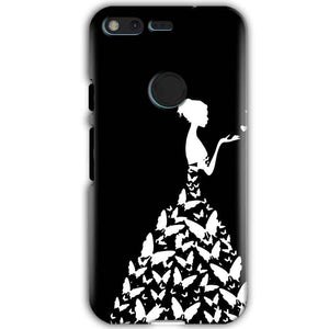 Google Pixel XL Mobile Covers Cases Butterfly black girl - Lowest Price - Paybydaddy.com