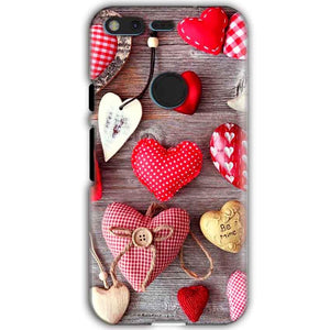 Google Pixel XL Mobile Covers Cases Hearts- Lowest Price - Paybydaddy.com
