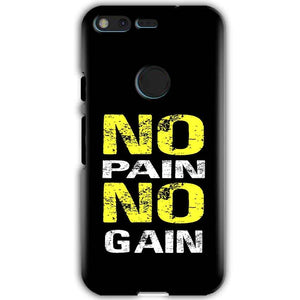 Google Pixel XL Mobile Covers Cases No Pain No Gain Yellow Black - Lowest Price - Paybydaddy.com