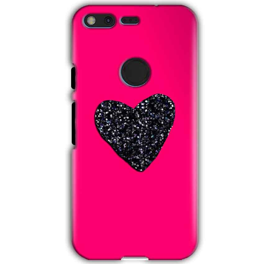 Google Pixel XL Mobile Covers Cases Pink Glitter Heart - Lowest Price - Paybydaddy.com