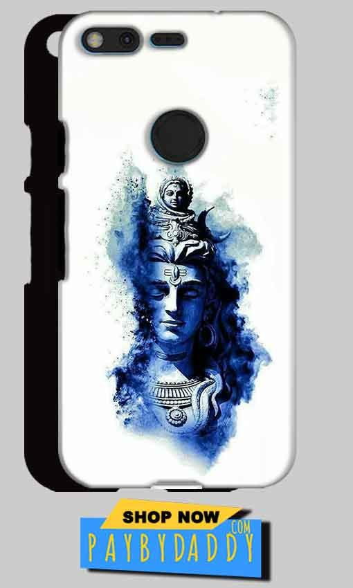 Google Pixel XL Mobile Covers Cases Shiva Blue White - Lowest Price - Paybydaddy.com