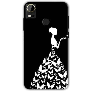 HTC Desire 10 Pro Mobile Covers Cases Butterfly black girl - Lowest Price - Paybydaddy.com