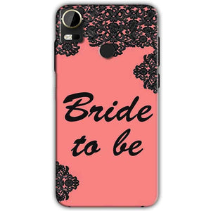HTC Desire 10 Pro Mobile Covers Cases Mobile Covers Cases bride to be with ring Black Pink - Lowest Price - Paybydaddy.com