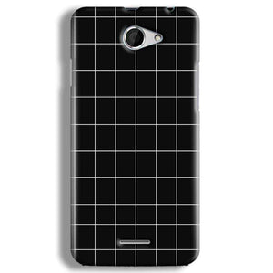 HTC Desire 516 Mobile Covers Cases Black with White Checks - Lowest Price - Paybydaddy.com