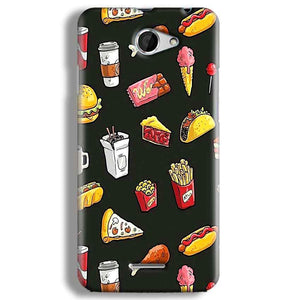 HTC Desire 516 Mobile Covers Cases Foodie Design - Lowest Price - Paybydaddy.com