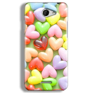 HTC Desire 516 Mobile Covers Cases Heart in Candy - Lowest Price - Paybydaddy.com