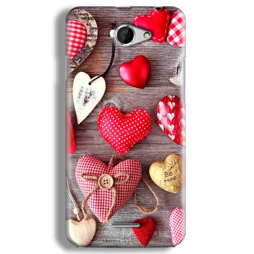 HTC Desire 516 Mobile Covers Cases Hearts- Lowest Price - Paybydaddy.com