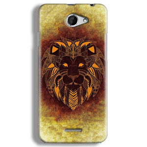 HTC Desire 516 Mobile Covers Cases Lion face art - Lowest Price - Paybydaddy.com