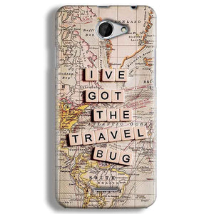 HTC Desire 516 Mobile Covers Cases Live Travel Bug - Lowest Price - Paybydaddy.com
