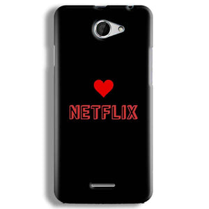HTC Desire 516 Mobile Covers Cases NETFLIX WITH HEART - Lowest Price - Paybydaddy.com