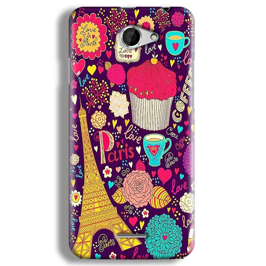 HTC Desire 516 Mobile Covers Cases Paris Sweet love - Lowest Price - Paybydaddy.com