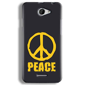 HTC Desire 516 Mobile Covers Cases Peace Blue Yellow - Lowest Price - Paybydaddy.com