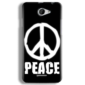 HTC Desire 516 Mobile Covers Cases Peace Sign In White - Lowest Price - Paybydaddy.com